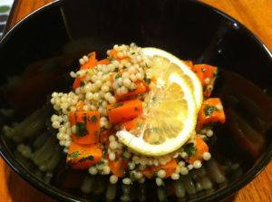 Cinnamon Carrot Israeli Couscous